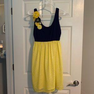 Judith March Navy & Yellow Dress